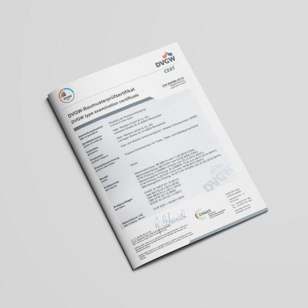 DVGW Baumusterprüfzertifikat